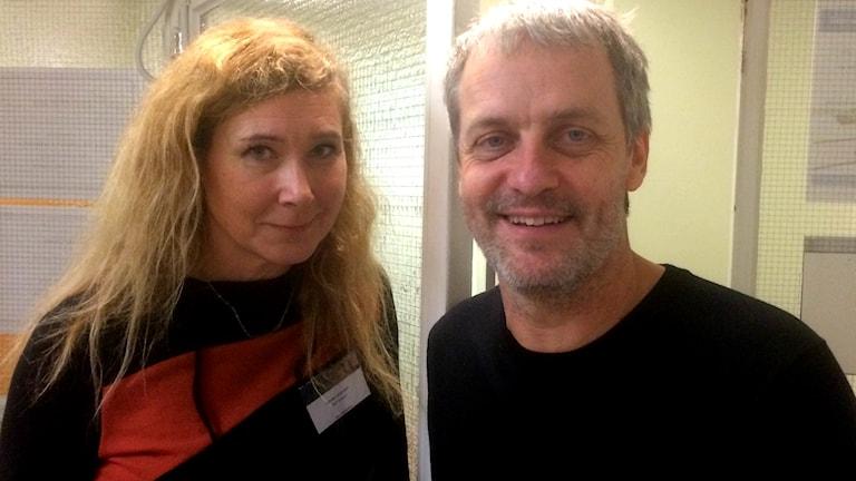 Läkarna Linda Lindmark och Valdemar Erling vid Kungälvs sjukhus.