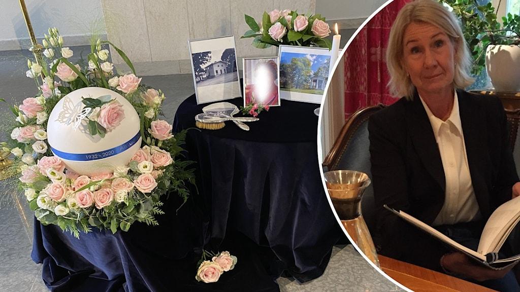 AnnaCarin Timgren vd för Gillis Edman Begravning och Familjejuridik i Göteborg i ett hemlikt samtalsrum