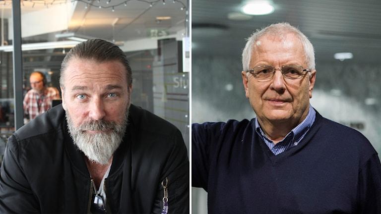 Patrik Sjöberg och Svein-Arne Hansen i varsin bildruta.
