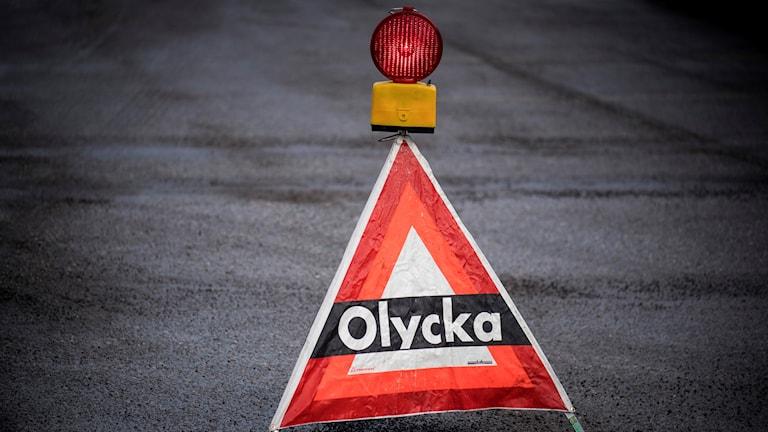 varningsskylt olycka