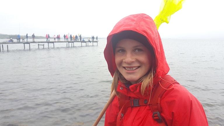 Johanna Lindström vid havet.