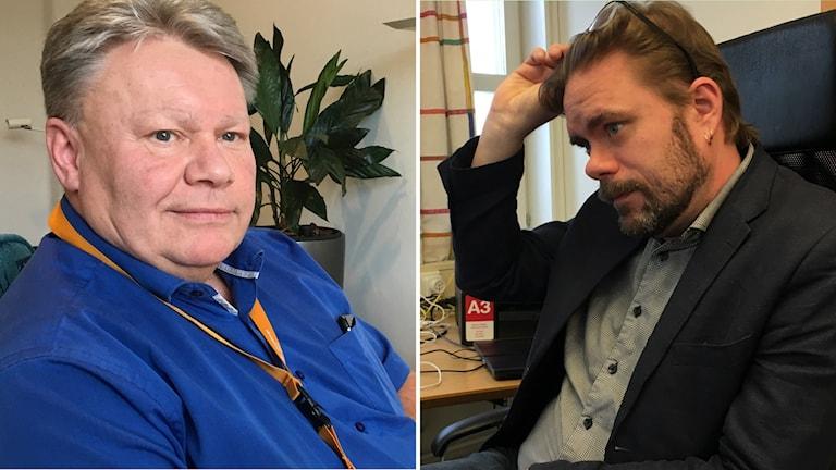Två bilder på två män