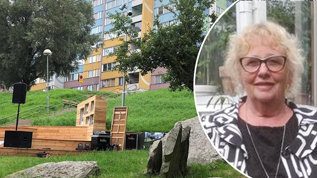 Anita Synnestvedt prisbelönas för sitt utomhusklassrum på en gammal Gravplats i Bergsjön
