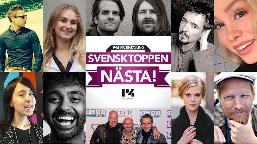 Collage av våra tio bidrag till årets Svensktoppen nästa