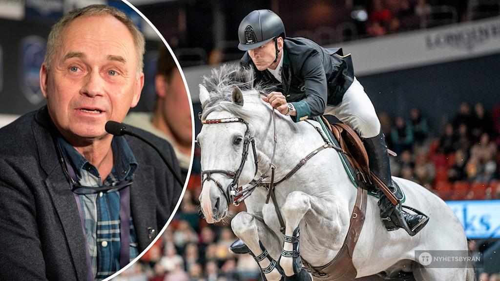 Tomas Torgesen och häst som hoppar