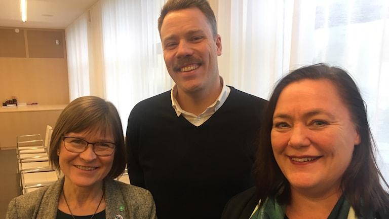 Karin Pleijel, Daniel Bernmar och Stina Svensson