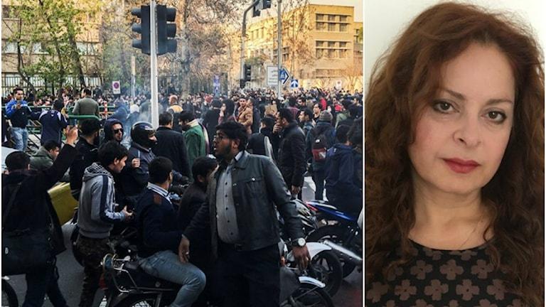 Protester Iran, Mandana Moghaddam