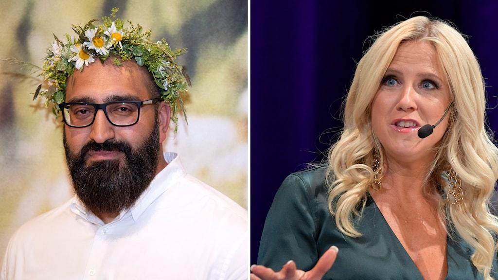 Man med skägg och kvinna med blont hår