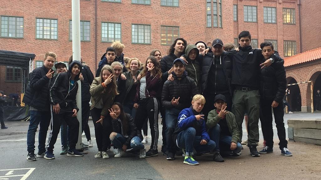 Elever på Nordhemsskolan 2017.
