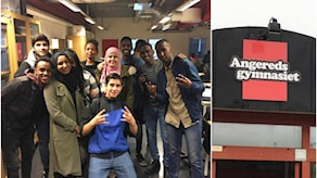 Elever från första året på Ekonomiprogrammet vid Angeredsgymnasiet