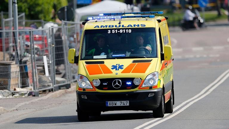 Ambulans rycker ut i Göteborg
