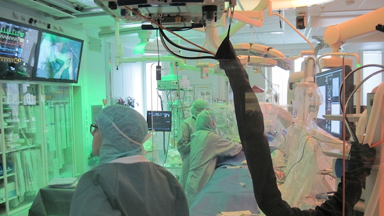 Den operationssal i nya bild- och interventionscentrum där malignt melanom-patienter opereras för att få cellgiftsbehandling.