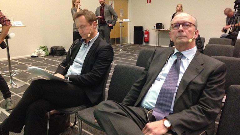 Christian Andersch, till vä får ansvar att leda rekonstruktionen av Stampen, där Peter Hjörne är huvudägare ordförande i styrelsen.
