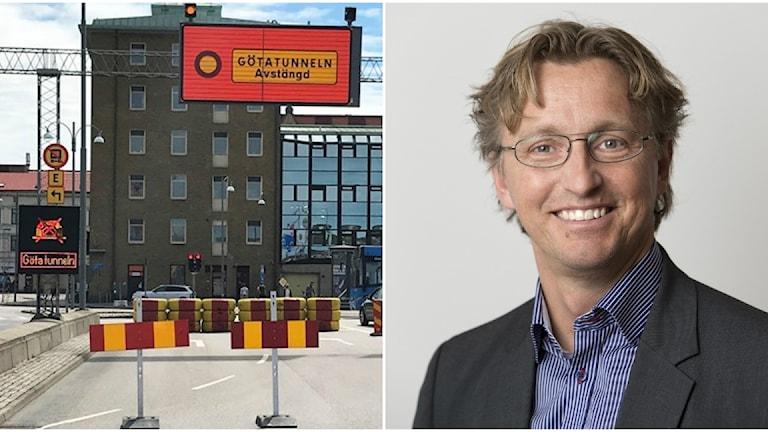 Götatunneln och Joakim Jonsson, Trafikverkets teknik- och miljöchef för Västlänkenprojektet.