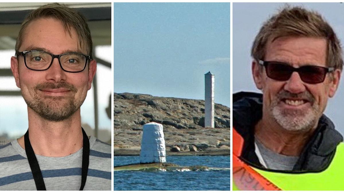 två män vid havsmiljö