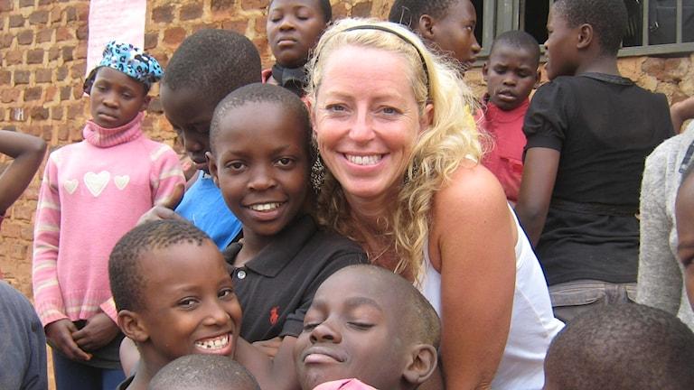 Joanna Eliasson i Uganda