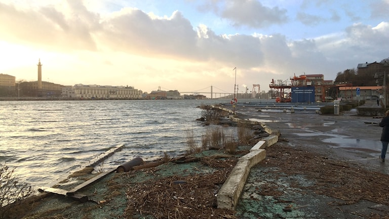 The Göta Älv river that runs down into Gothenburg's harbour will be affected by climate change.