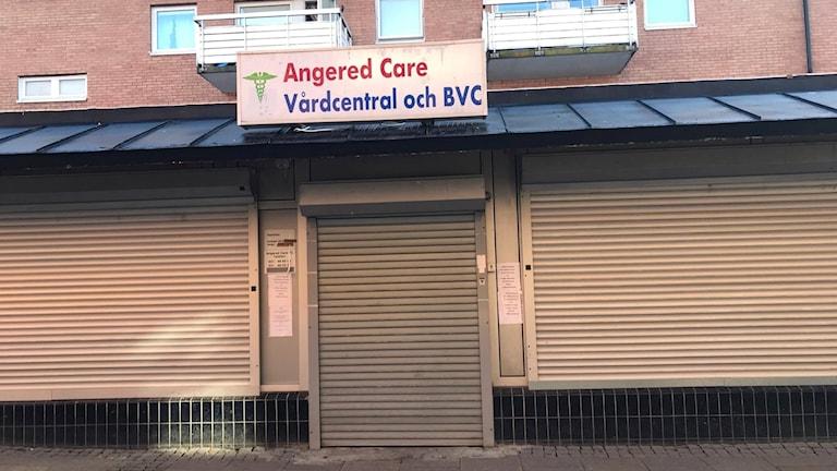 Nedstängd vårdcentral i Angered.