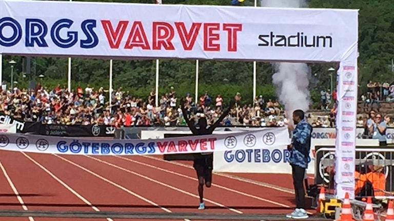 Kenyanen Shadrack Kimining vann Göteborgsvarvets herrklass