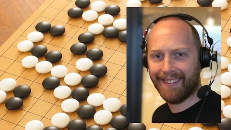 Spel med infälld bild av en man