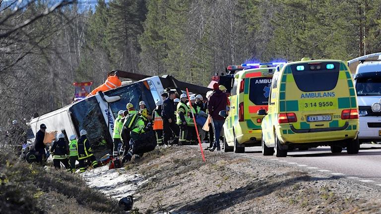 Bussolyckan i Härjedalen.