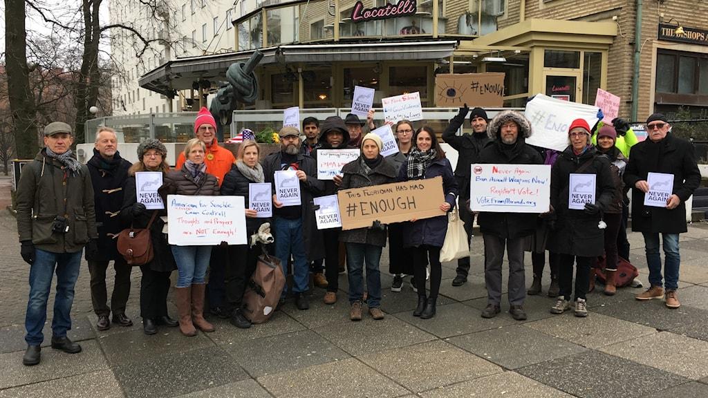 Democrats Abroad demo mot USAs vapenlagar