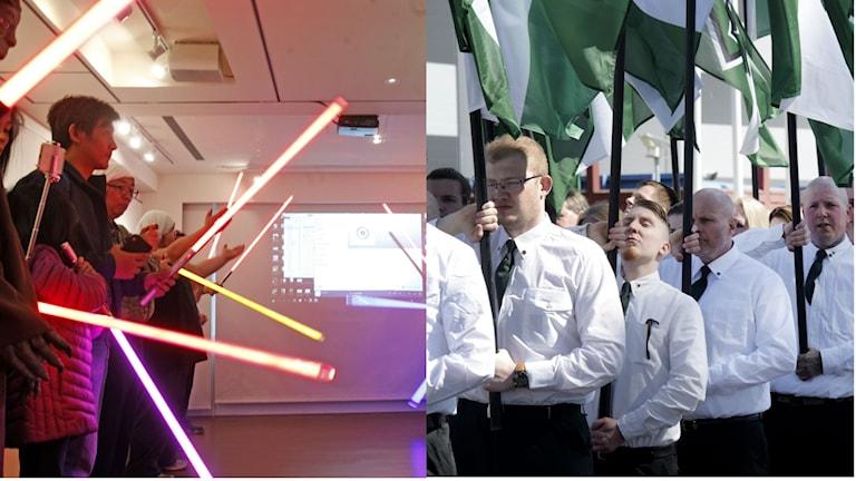 ljussablar och nazister