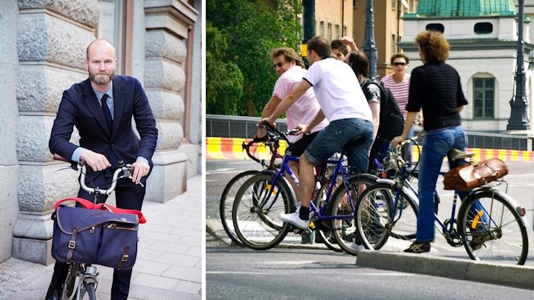 cykel, cyklister