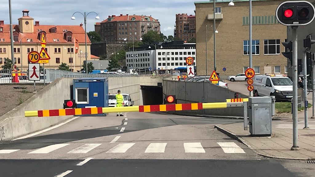 Götatunneln avstängd vid Järntorget