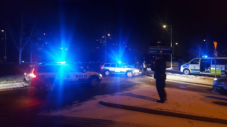 Polisen avlossade skott under en biljakt. Foto: Sanna Larsson/Sveriges Radio.