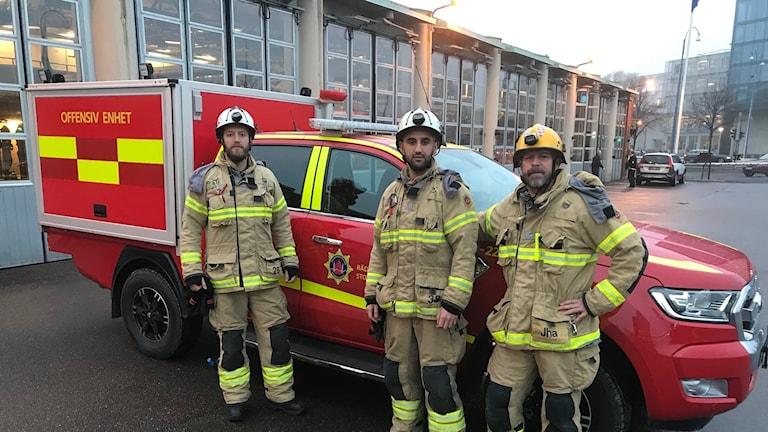 En ny mindre brandbil i Göteborg.