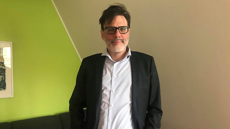 Christer Mattsson i ett av rummen på Göteborgs Universitet.