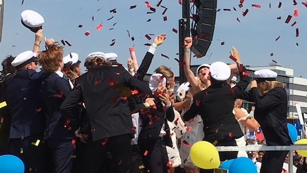 Studenter firar