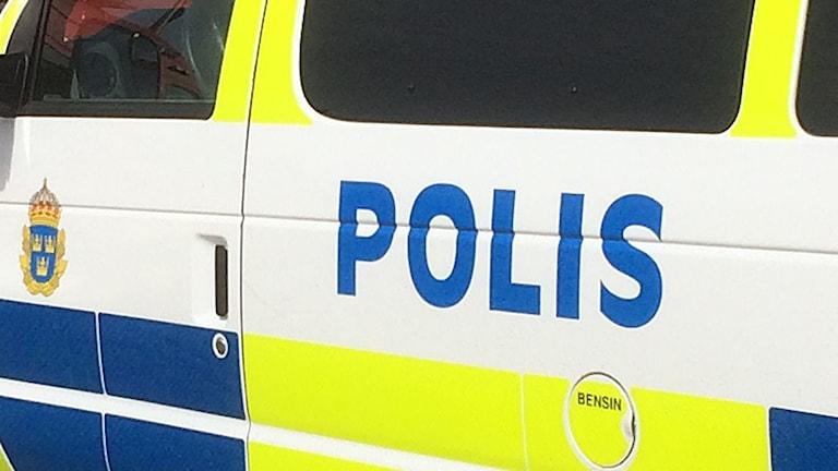 detalj av en polisbil