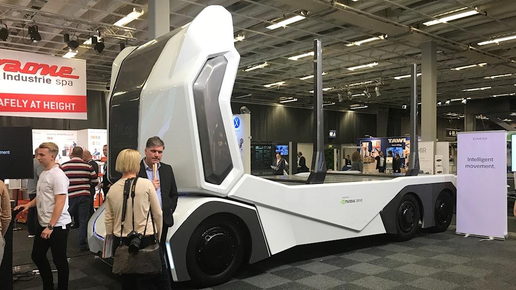 En lastbil som ska kunna köras utan förare
