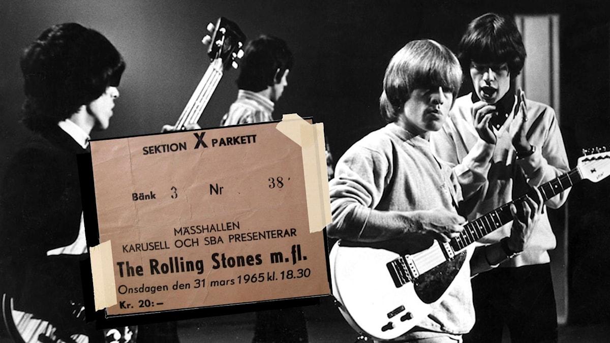 Rolling stones samt biljett