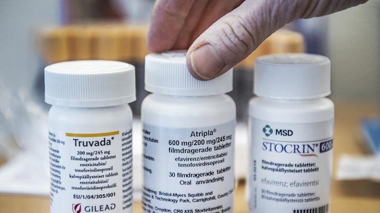 Läkemedel som används vid behandling av hiv.