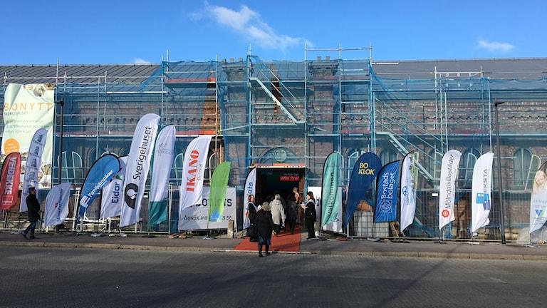 Bonytt 2017 hålls i Exercishuset med många byggbolag på plats. Många strandflaggor vajade intill ingången