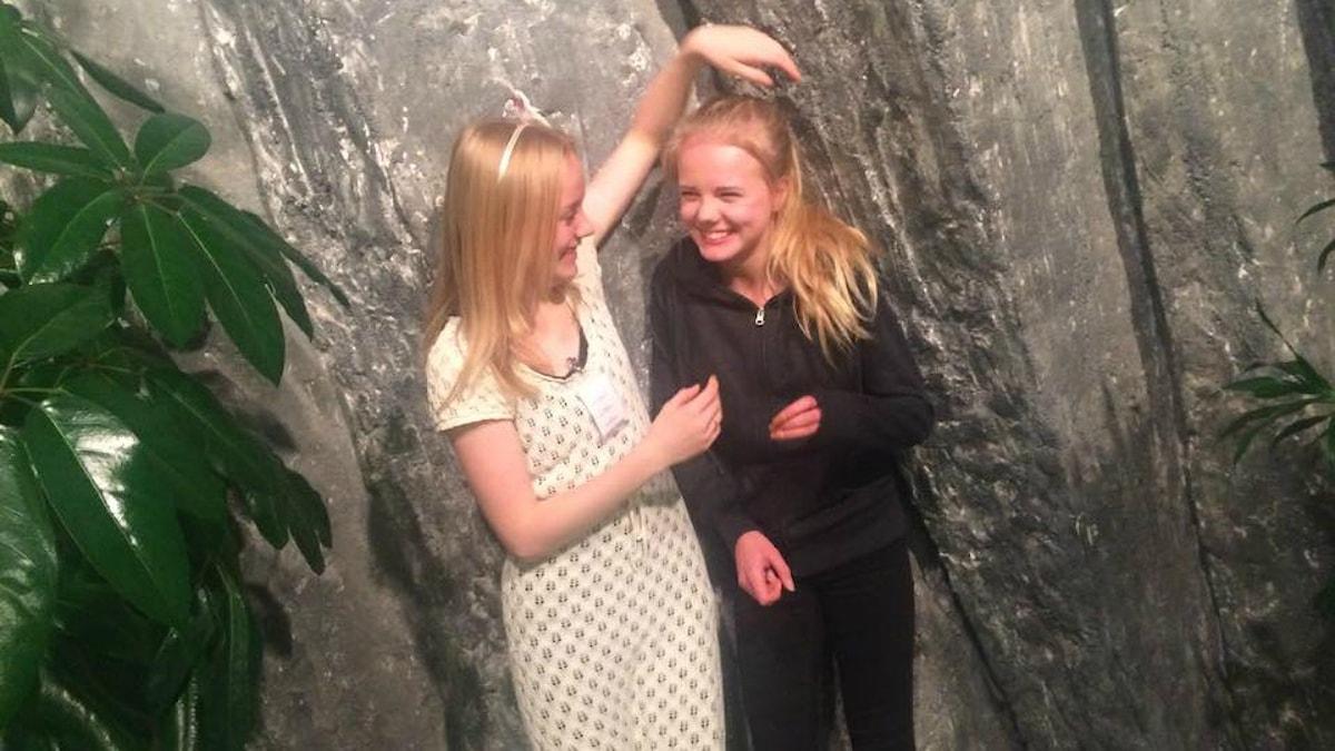 Elvira Andersson, Amanda Suorajärvi foto: Noona Ensani/Sveriges Radio