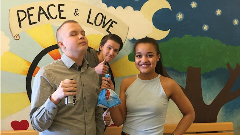 Hampus, Karl ja Eveline syövät sokeria joka päivä.