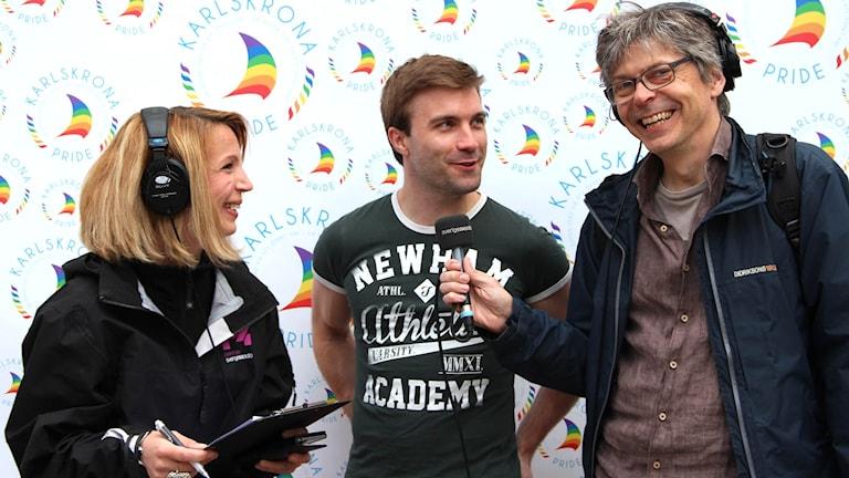 Oskar Sternulf intervjuas av Patrik Franke och Linn Elmstedt.