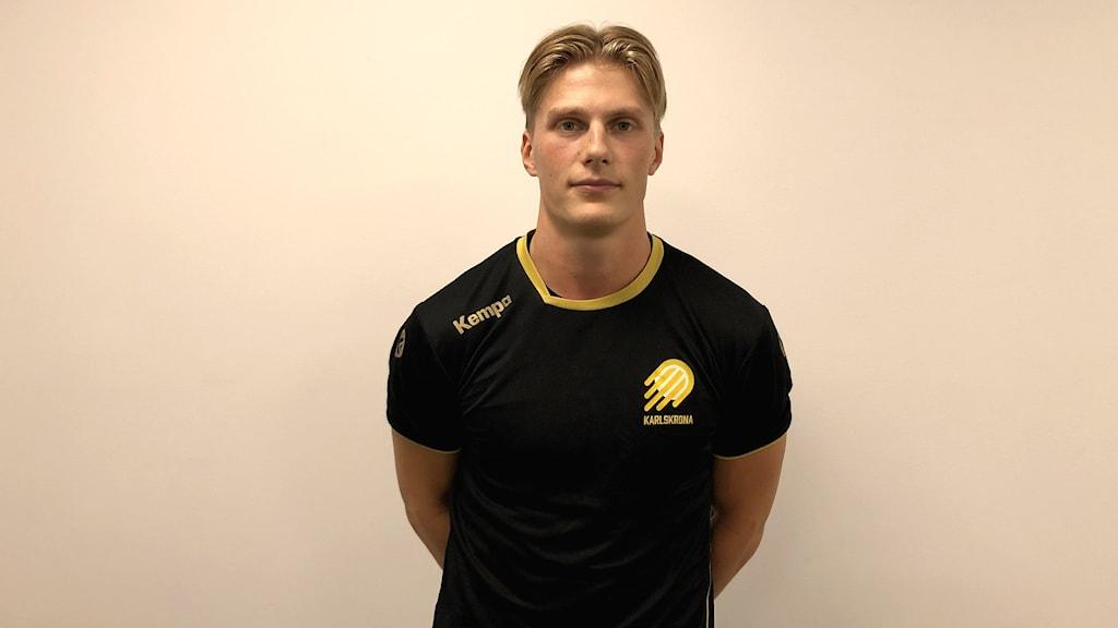 Lagkapten i HIF Karlskrona Viktor Ahlstrand