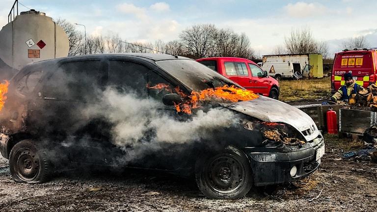 Bilbrand 1 - gasbil RTÖG övar nov 19 - Peter Weyde, Sveriges Radio