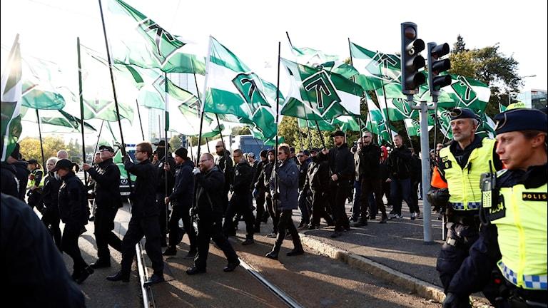Nordiska motståndsrörelsen demonstrerade i Göteborg i höstas.