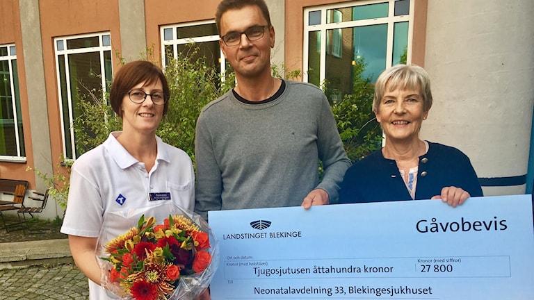 Från vänster Semona Dahlman-Nilsson, Magnus Ljungkrans och Mari Norén.