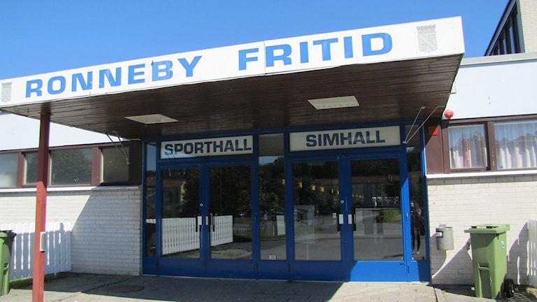 Ronneby simhall och sporthall. Foto: Magdalena Martinsson/Sveriges Radio