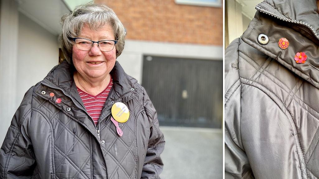 Agneta Carlander, ordförande i den lokala majblommeföreningen i Ronneby.