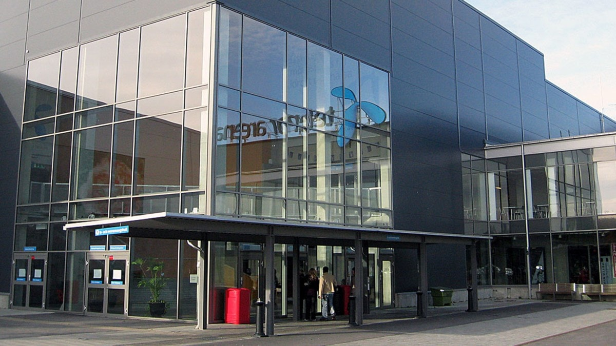 Entrén till Telenor arena i Karlskrona