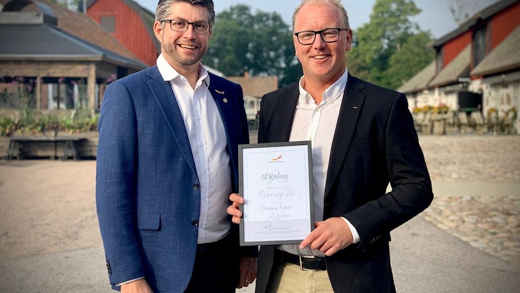 Johan Dalén Svenskt Näringsliv och Stefan Olofsson näringslivschef Sölvesborgs kommun