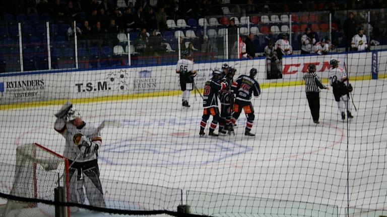 Hockeyspelare under en match.